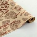 Крафт бумага в рулоне с рисунком