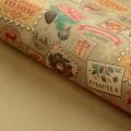 Декоративная крафт бумага в листах с рисунком