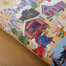 Новогодняя крафт бумага с рисунком