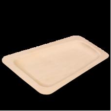 Одноразовая деревянная тарелка, трапеция