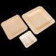 Тарелки деревянные квадратные