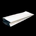 Пакет металлизированный белый с центральным швом (двухшовный)