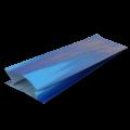Пакет синий матовый с центральным швом (двухшовный)