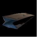 Пакет черный матовый с центральным швом (двухшовный)