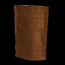 Пакет дой пак бумажный крафт коричневый с замком zip-lock