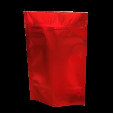 Пакет дой пак металлизированный красный матовый с замком zip-lock