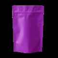 Пакет дой пак сиреневый матовый металлизированный с замком zip-lock