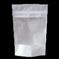 Пакет дой пак бумажный белый с прозрачным окошком с замком zip-lock