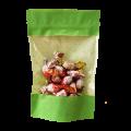 Пакет дой пак салатовый бумажный крафт с прозрачным окошком с zip-lock