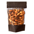 Пакет дой пак бумажный коричневый с прозрачным окошком с zip-lock