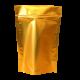 Пакет дой пак металлизированный золотой матовый с zip-lock