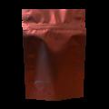 Пакет дой пак металлизированный коричневый матовый с zip-lock