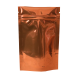 Пакет дой пак металлизированный коричневый с zip-lock