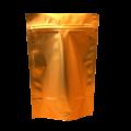 Пакет дой пак металлизированный бронзовый матовый с zip-lock