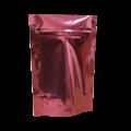 Пакет дой пак металлизированный бордовый с zip-lock