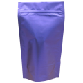 Пакет дой пак металлизированный синий (рефлекс) матовый с zip-lock