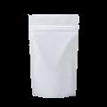 Пакет дой пак металлизированный белый с замком zip-lock
