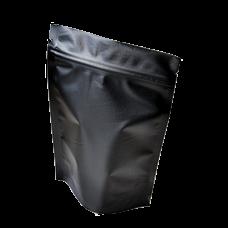 Пакет дой пак металлизированный черный матовый с замком zip-lock