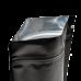 Пакет дой пак металлизированный черный с замком zip-lock