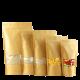 Пакет дой-пак бумажный крафт с прозрачным окошком 40 мм с замком zip-lock