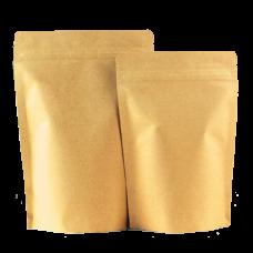 Пакет дой-пак бумажный крафт трехслойный с замком zip-lock