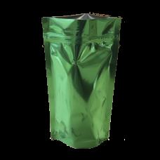 Пакет дой пак металлизированный зеленый с замком zip-lock
