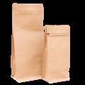 Квадропак, пакет восьмишовный крафт с плоским дном