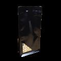 Пакет восьмишовный черный с треугольным окошком снизу