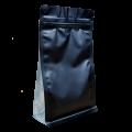 Пакет восьмишовный черный матовый с прозрачными боковыми вставками