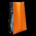 Пакет пятишовный оранжевый матовый с черными вставками