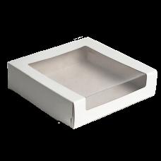 Коробки для тортов с окном белые