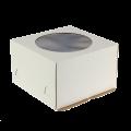 Короба для тортов «Эконом» с окном белые