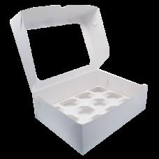 Короба для Капкейков c окном белые