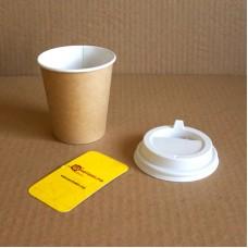 Бумажные стаканы для горячих напитков «Крафт»