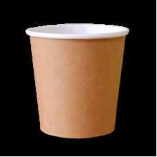 Бумажные стаканчики Крафт для горячих напитков 100 мл.