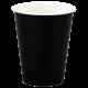 Черные бумажные стаканы для горячих напитков