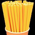 Бумажные трубочки Желтые
