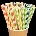 Бумажные трубочки Полоски