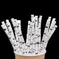Бумажные трубочки Березка