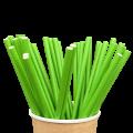 Бумажные трубочки Зеленые