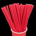 Бумажные трубочки для коктейля Красные
