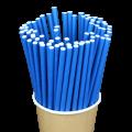 Бумажные трубочки Синие