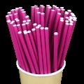 Бумажные трубочки Фиолетовые
