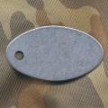 Жетон овальный (нержавеющая сталь)