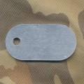Жетон овальный старого образца без черты / c чертой (алюминий)