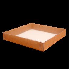 Коробки крафт с прозрачной пластиковой крышкой