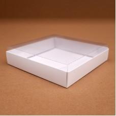 Коробки белые с прозрачной пластиковой крышкой