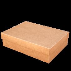 Коробочка из крафт картона, крышка - дно