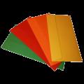 Цветные конверты с прямым клапаном