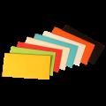 Цветные конверты с прямым клапаном 114x229 мм